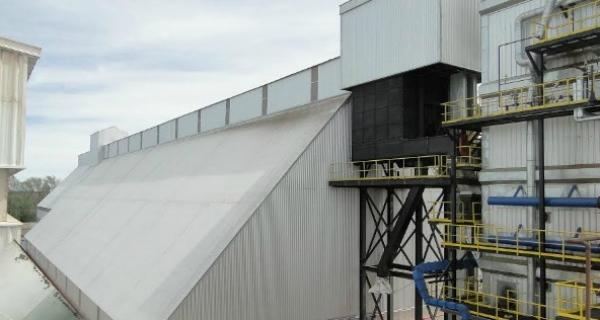 Celda de acopio de cáscara de maní con capacidad para 2000 toneladas de almacenamiento. Foto: Infoegocios