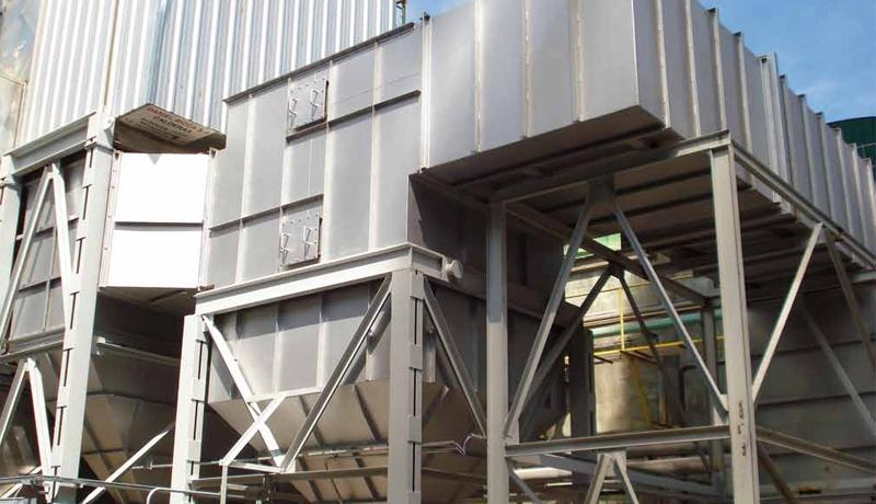 Calentador de aire y precipitador. Equipos auxiliares para calentamiento del aire y purificación de los gases de combustión. Foto: gentileza CAPP.