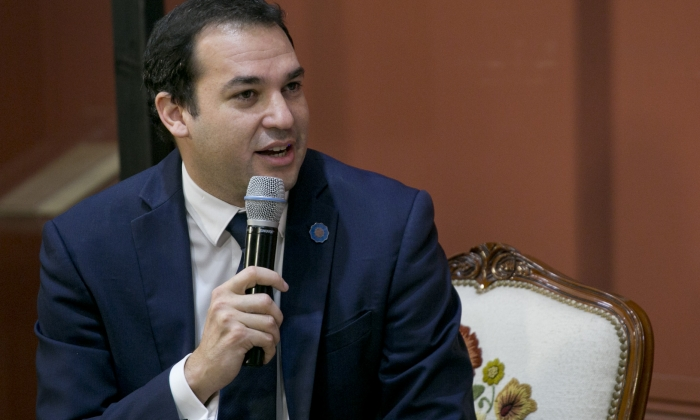 El secretario de Planeamiento y Políticas en CTeIP, Jorge Aguado, moderó el panel con representantes del sector.