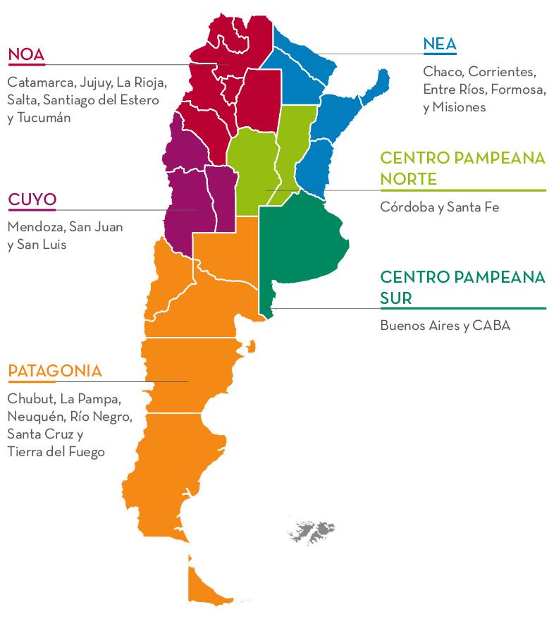 mapa regiones
